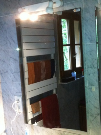 Miroir chauffant infrarouge first heating et infra crystal - Miroir salle de bain chauffant ...