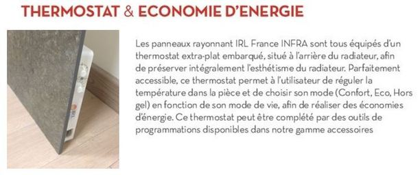 Thermostat INFRA IRL France